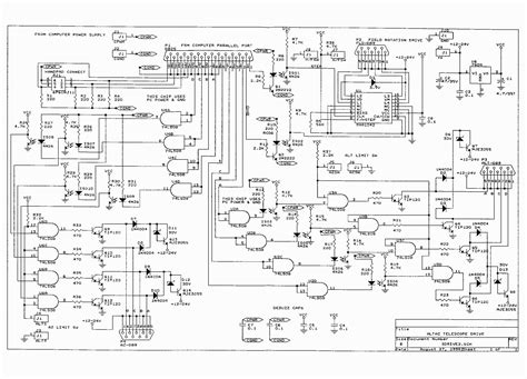circuit board diagram stepper system for computer of telescopes