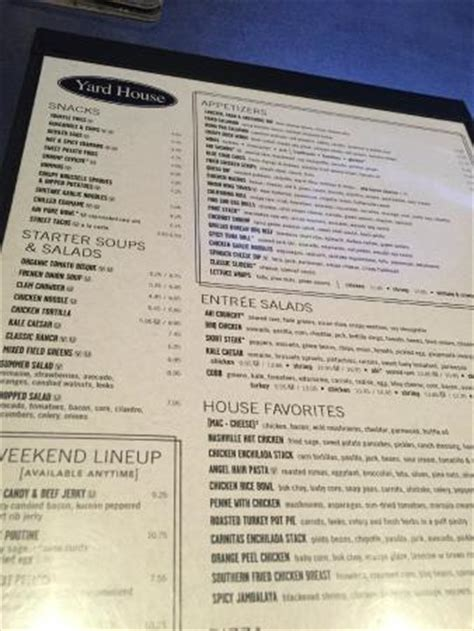 yard house menu menu picture of yard house restaurant scottsdale