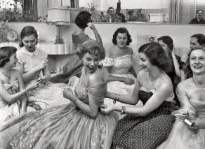 And friends getting dressed in a look magazine article from 1950