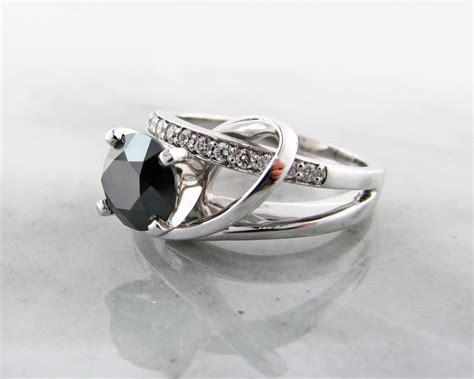 black white gold ring contemporary wexford jewelers