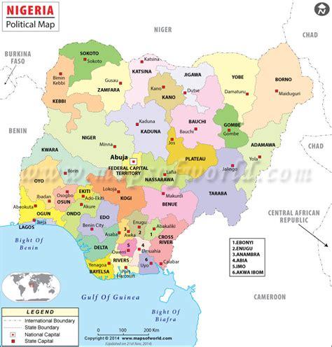 diagram of map of nigeria diagram of the map of nigeria my