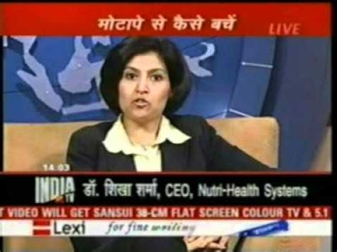 nutri v weight management dr shikha sharma india tv nutri health systems weight