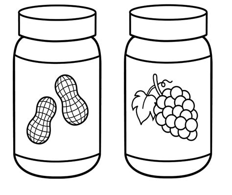 how to color jars peanut butter jar clipart 47