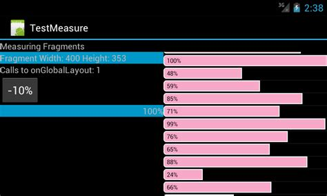 android measure layout width android getting measuring fragment width adanware