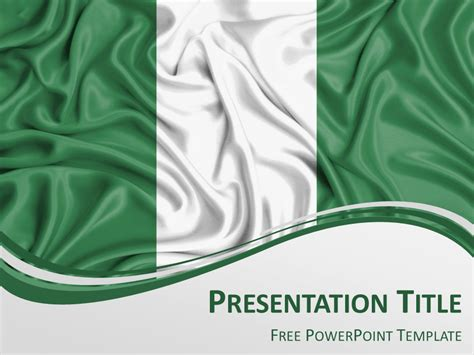 Nigeria Flag Powerpoint Template Presentationgo Com Themed Powerpoint Templates