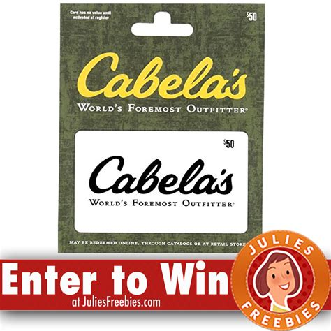 Cabellas Gift Card - win a 500 cabela s gift card julie s freebies