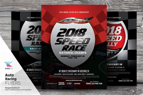 motorsport templates auto racing flyer templates flyer templates creative