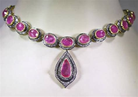 Ruby 11 5ct cut necklace 11 5 ct ruby silver
