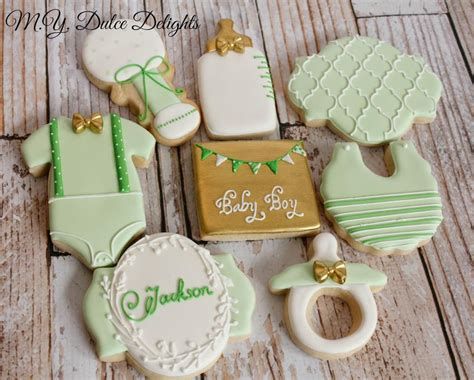 como decorar galletas baby shower mint and gold baby shower cookies cookie connection