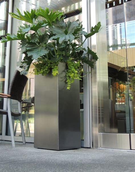 gun metal grey and green contemporary outdoor planters other metro by object outdoors