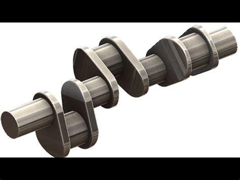 solidworks tutorial crankshaft solidworks tutorial 185car crank shaft youtube