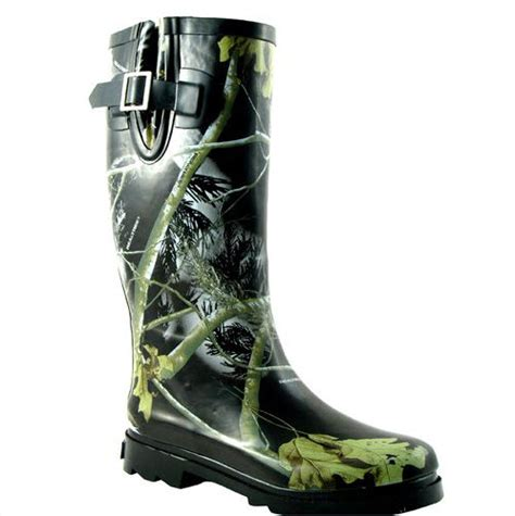 realtree black camo real tree womens ms jo jo boots sz 8