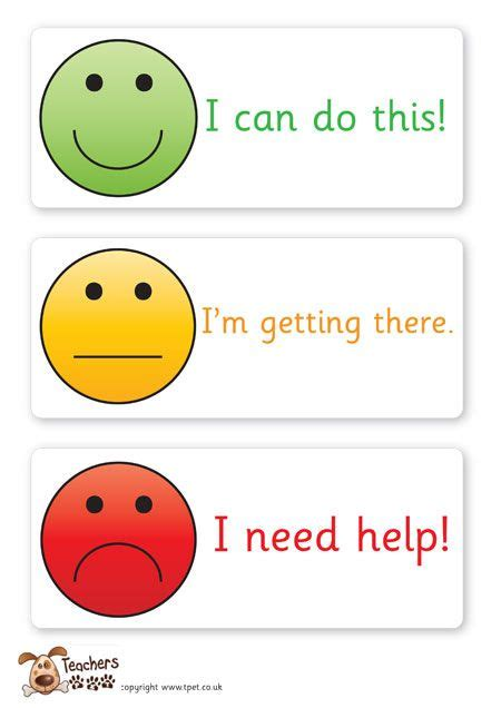 traffic light cards template s pet smiley assessment cards free