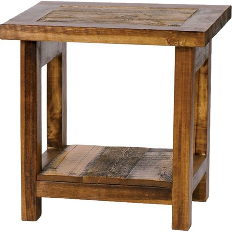 Rustic Accent Table Rustic Wyoming End Table