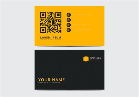 yellow business card template free yellow stylish business card template free