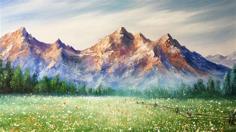 acrylic painting mountains paint mountains with acrylic paints lesson 2
