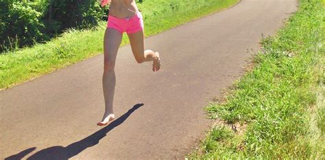 running without running shoes boost balance by running without shoes run forefoot