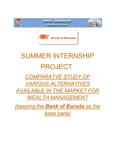 Asset Management Mba Internships by Summer Internship Of Mba In Wealth Management Wealth