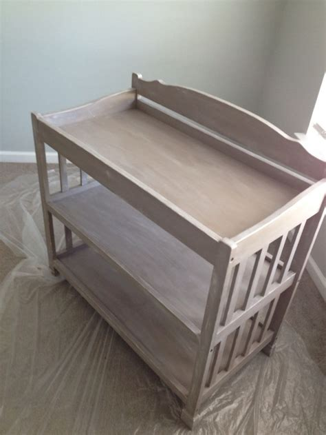 Repurposed Changing Table Sloan Coco Brushed With White Accents Clear Wax Sealed Baby Changing Table