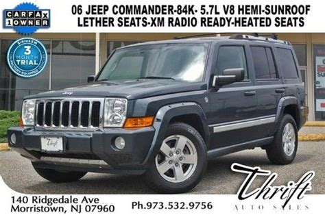 06 Jeep Commander Sell Used 06 Jeep Commander 4x4 84k 5 7 Hami Leather Seats