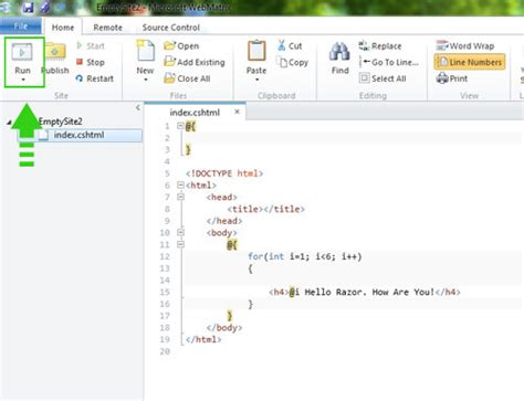 webmatrix tutorial where to write razor code webmatrix c tutorial