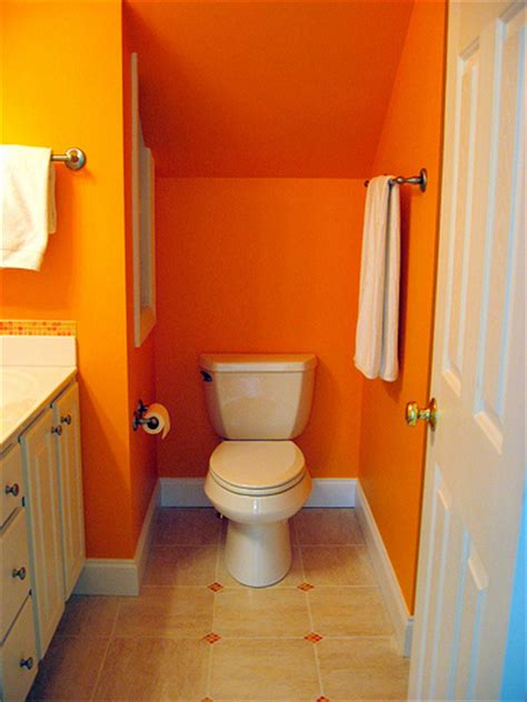 orange bathrooms bright orange bathroom flickr photo sharing