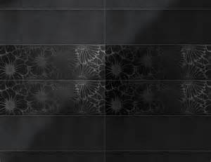 Black Ceramic Floor Tile Pop Flower Black On Black Italian Ceramic Tiles