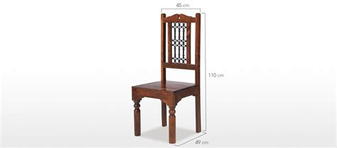 dining room chair dimensions jali sheesham high back ironwork dining chairs pair