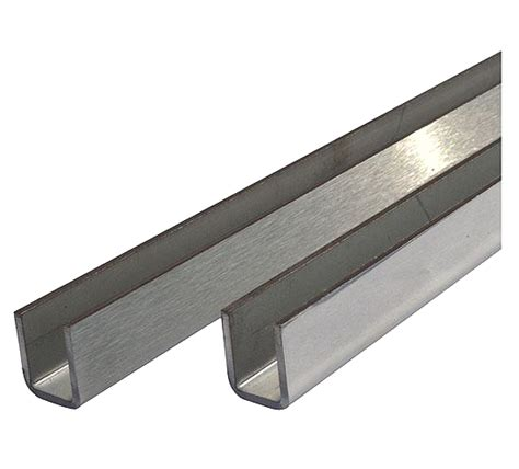 stainless steel u section channel stainless steel u channel for 10mm glass shower screens