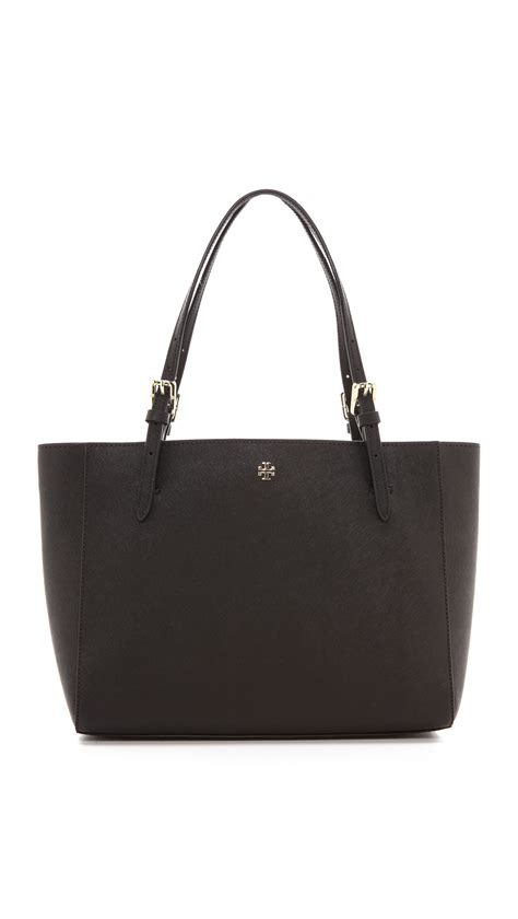 Ready Toryburch York Small Buckle Tote Black burch york small buckle tote kir royale in black lyst