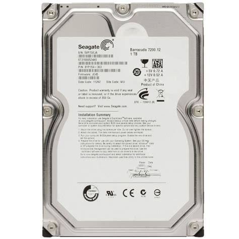 Harddisk Seagate Barracuda storage drives seagate barracuda 1tb 7200rpm