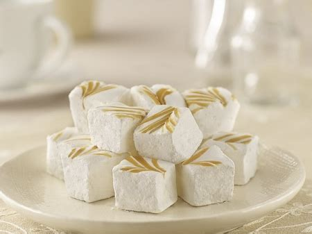 Handcrafted Marshmallows - caramel swirl plush puffs crafted marshmallows