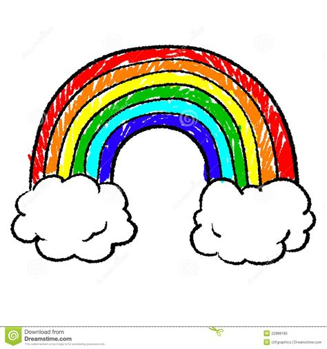 rainbow doodle drawing rainbow sketch stock illustration image of uplifting