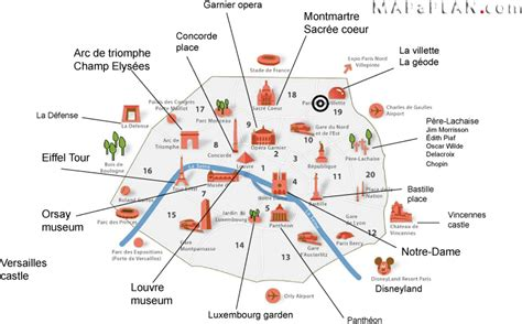 top attractions map maps top tourist attractions free printable