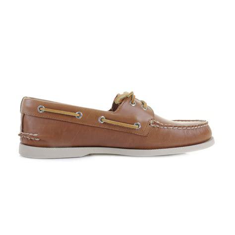 mens sperry authentic original a o 2 eye tan leather boat - Sperry Mens Leather Boat Shoes