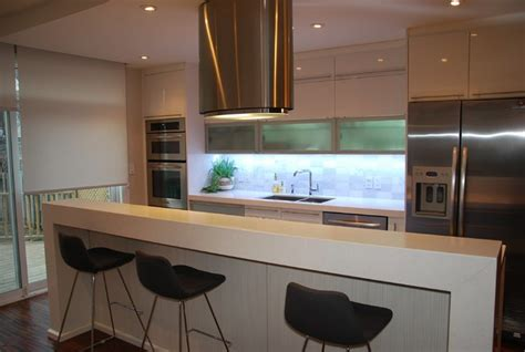 contemporary kitchen wall angelika one wall modern kitchen toronto by svea