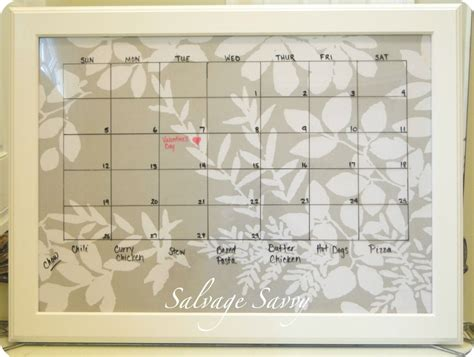 how to make a erase calendar from a picture frame how to make a erase calendar easy