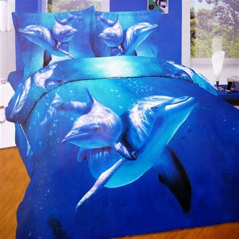 Dolphin Bed by Aliexpress Buy Beautiful Blue 3d Animal Print