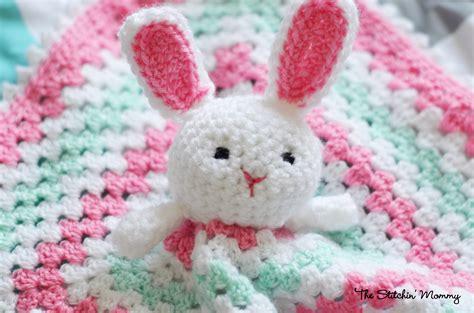Bunny Lovey Crochet Pattern Free   crochet bunny lovey free pattern the stitchin mommy