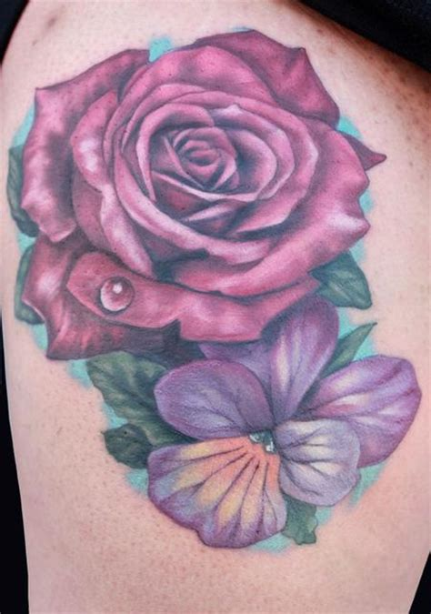 violet rose tattoo cat and by katelyn crane tattoonow