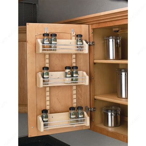 Kitchen Cabinet Door Storage Racks Adjustable Door Mounting Spice Rack Richelieu Hardware