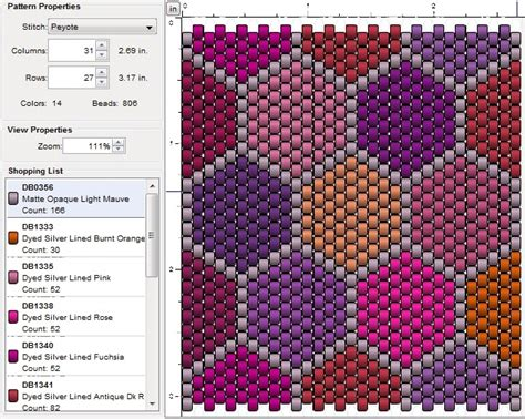 imaginesque beading peyote stitch pattern 8 patchwork