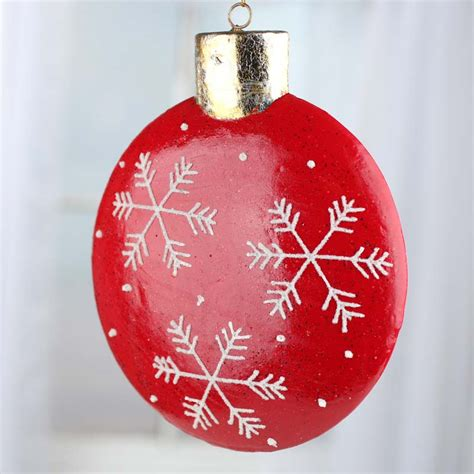 large sparkling flat back christmas ornament christmas