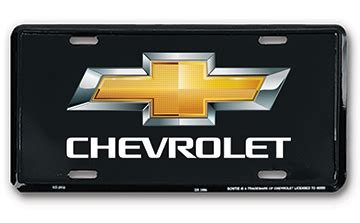 chevrolet black license plate chevymall