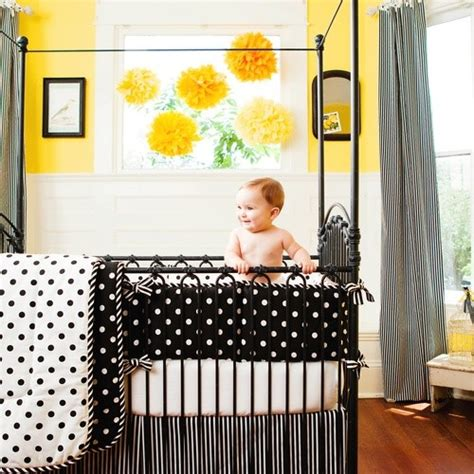 Black And White Striped Crib Bedding Black And White Dots And Stripes Crib Bedding Collection By Carousel Designs Contemporary