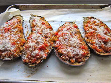 stuffed eggplant roasted stuffed eggplant original