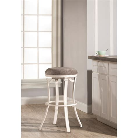 Kelford Backless Swivel Stool by Hillsdale Furniture Kelford White Swivel Backless Counter