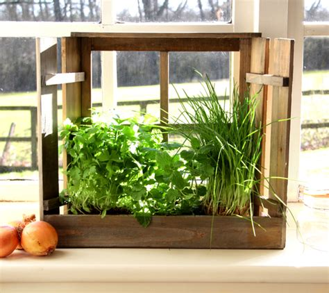 Herb Window Planter by Shabby Chic Window Herb Planter Kit With Seeds 163 7 99