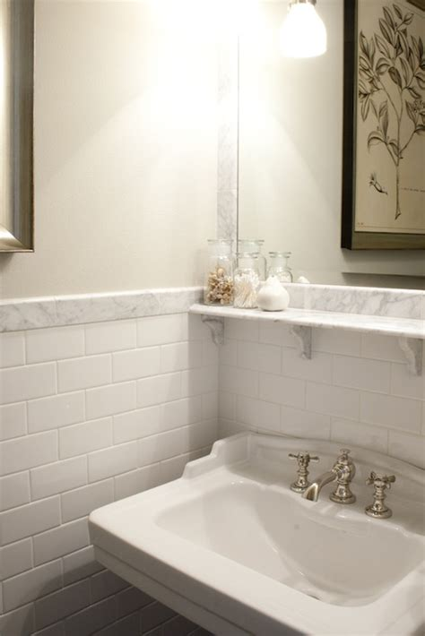 White Subway Tile Bathroom by White Subway Tile Bathroom Design Ideas