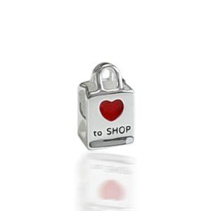 pandora to shop shopping bag charm